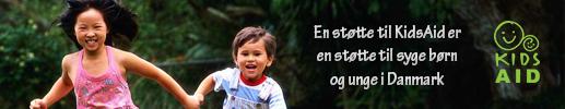 En støtte til KidsAid er en støtte til syge børn og unge i Danmark